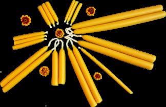 Handgezogene Kerzen